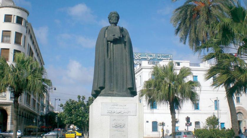 تمثال ابن خلدون في العاصمة التونسية
